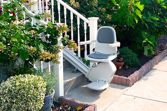 Out door stairlift from Magic Mobility Ltd in the UK