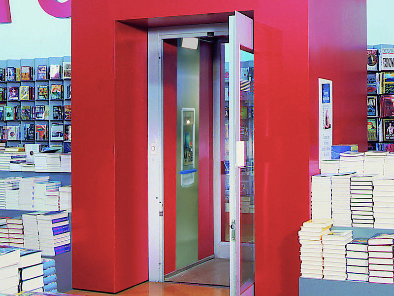 ThyssenKrupp public access lift in a shop