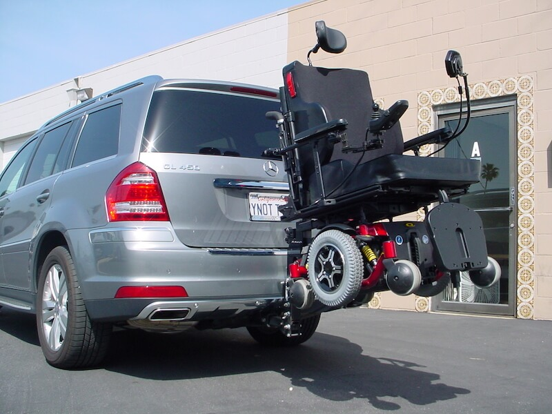 13fb6f0a15 Easy power chair transport on back of car · Easy to transport mobility ...