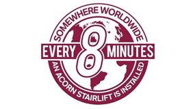 An Acorn stairlift is fitted every 8 minutes somewhere in the world 365 days a year