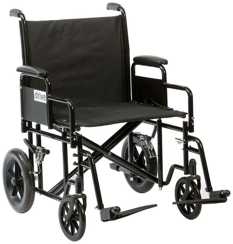 Bariatric manual wheelchair for larger people