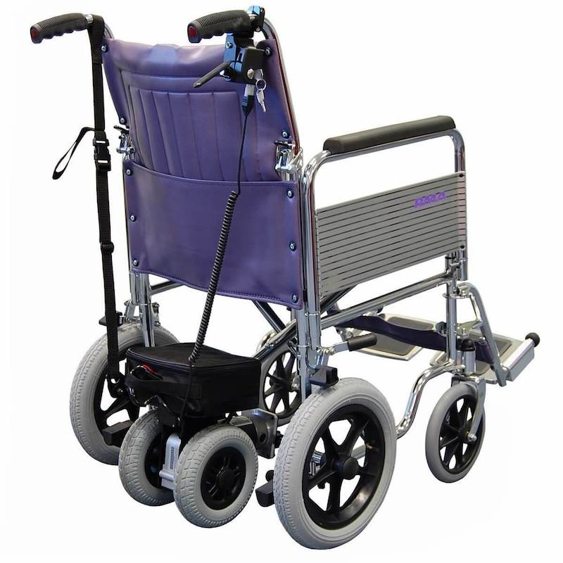 Dual wheel power pack for attendant wheelchair assistance