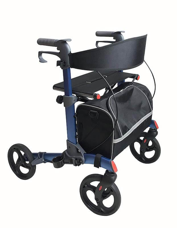Rollator and shopping trolley in one